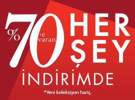 HERŞEY İNDİRİMDE %70'e VARAN!