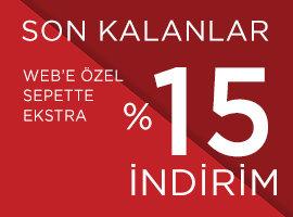 SEPETTE EK %15 İNDİRİM