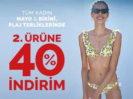 plaj ürünlerinde 2.ye %40 indirim
