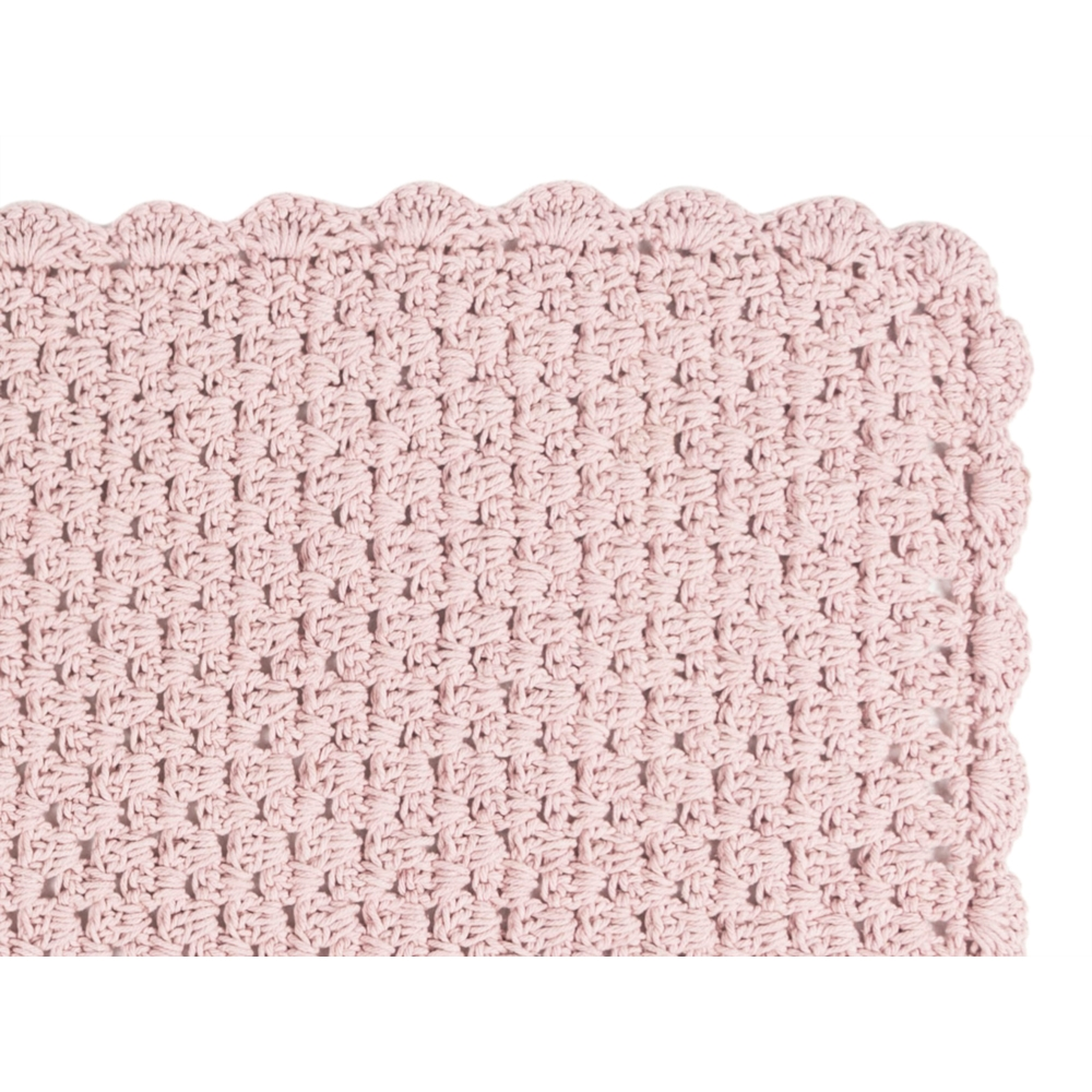 KNITTED 60X100 CM PEMBE PASPAS
