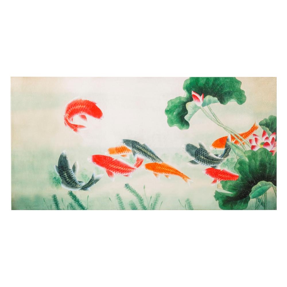 UNION OF KOI FISHES TABLO 50X100 CM