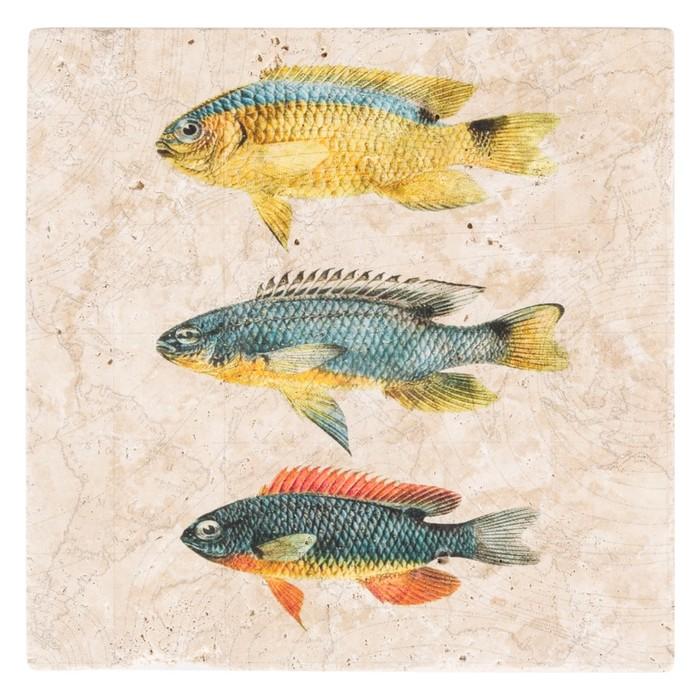 FISHES TAŞ PANO 20X20 CM