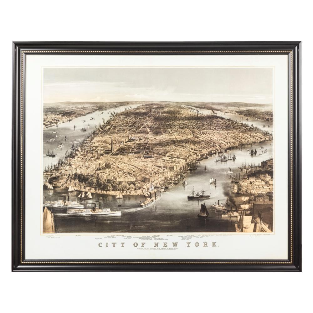 CITY OF NEW YORK PANO 80X100 CM