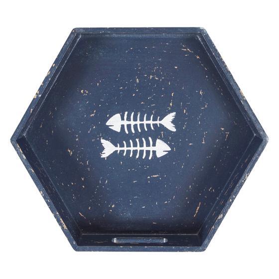 FISH BONE TEPSİ -LACIVERT 37X32X5