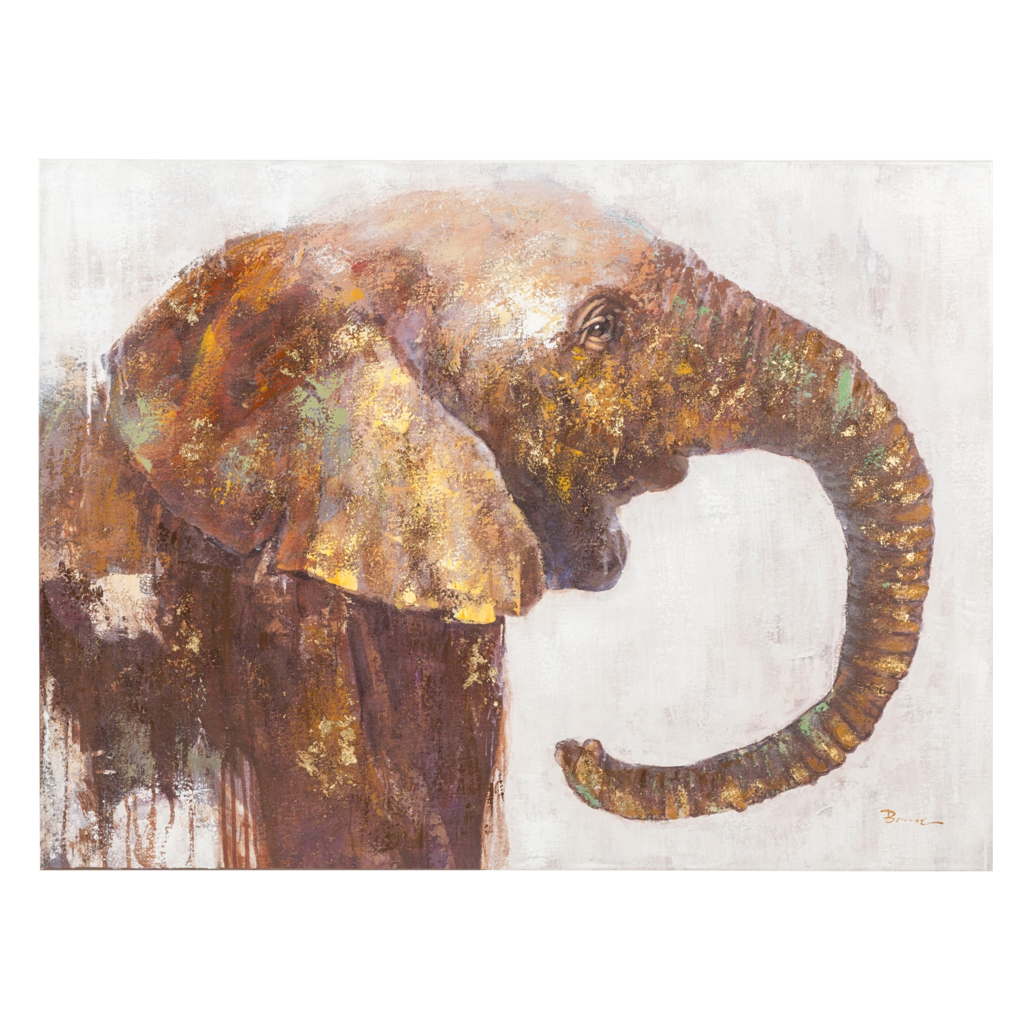 GRACEFUL ELEPHANT YAĞLI BOYA TABLO 90X120 CM