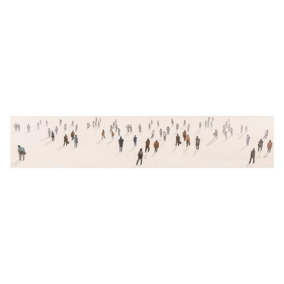 STANDING PEOPLE YAĞLI BOYA TABLO 30X150 CM