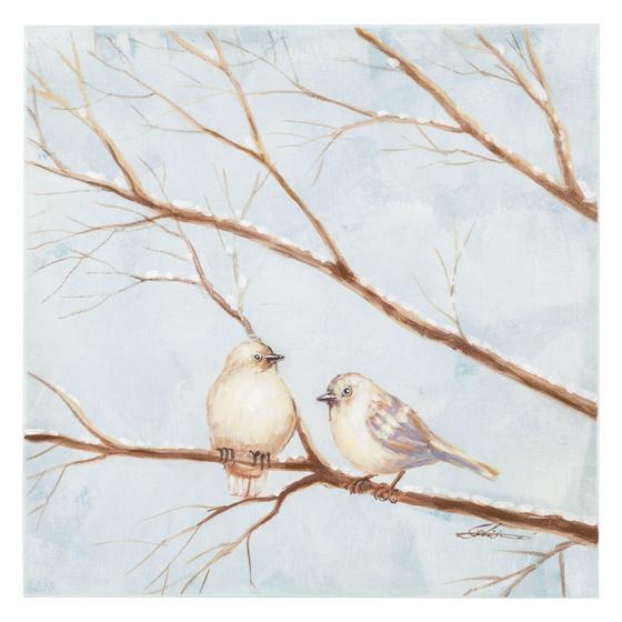 LOVEBIRDS I YAĞLI BOYA TABLO 60X60 CM