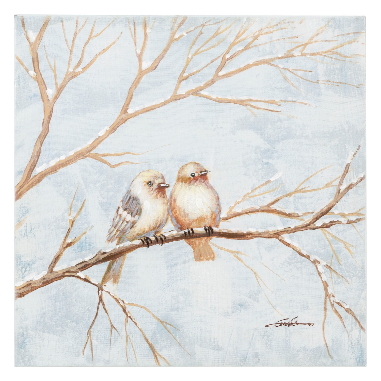 LOVEBIRDS II YAĞLI BOYA TABLO 60X60 CM
