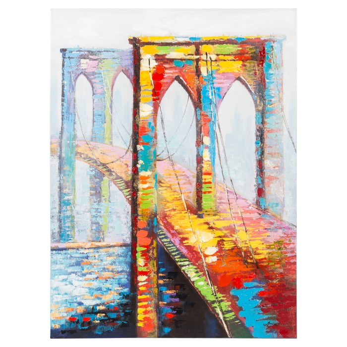 COLORFUL BRIDGE YAĞLI BOYA TABLO 90X120 CM