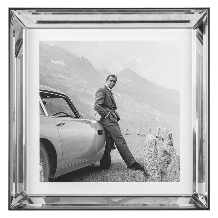 JAMES BOND, ASTON MARTIN PANO 41X41 CM