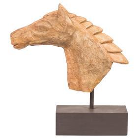 CHISELED HORSE BUST BİBLO 39X42CM
