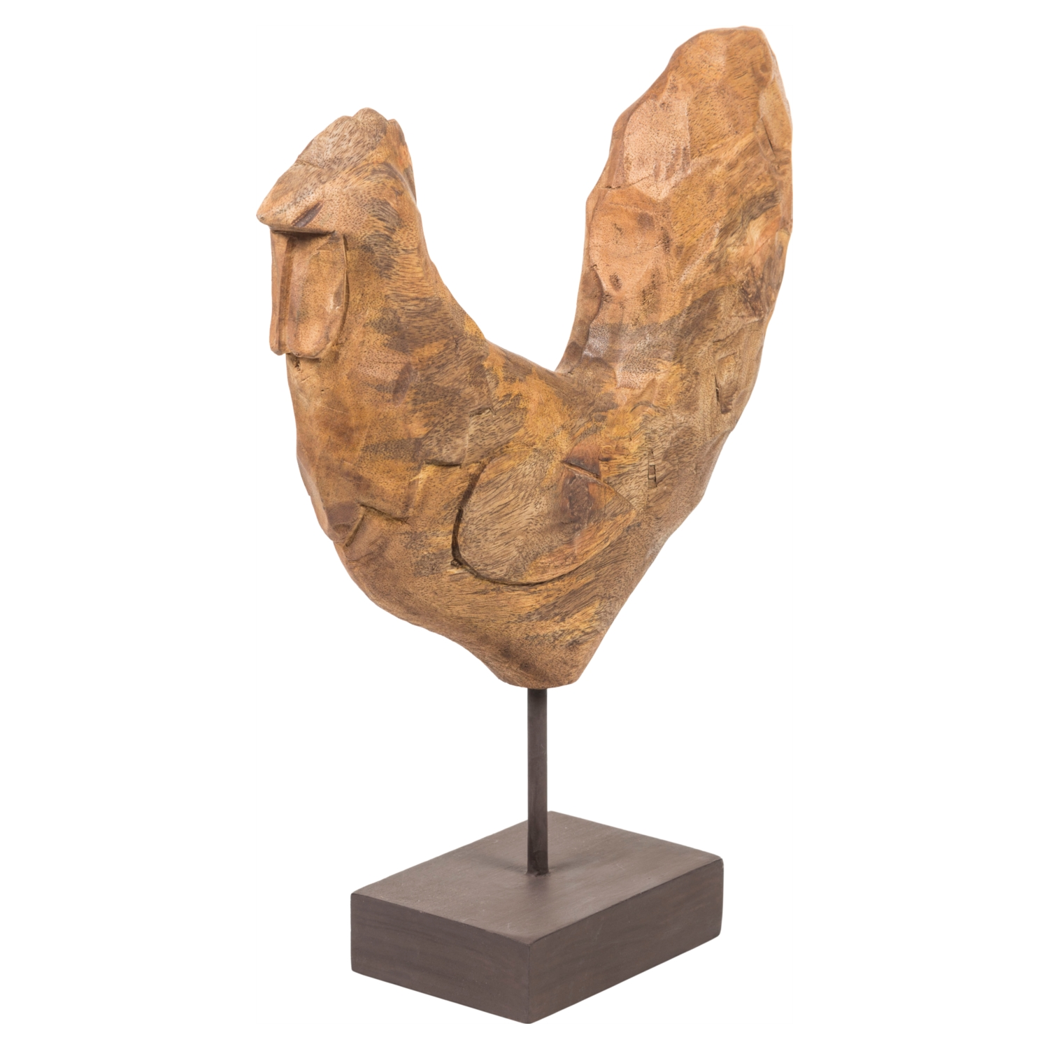 CHISELED ROOSTER BIBLO 33X36 CM