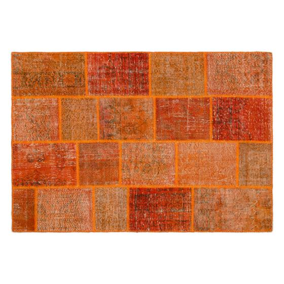 PEKS ORANGE PATCHWORK HALI 160X230