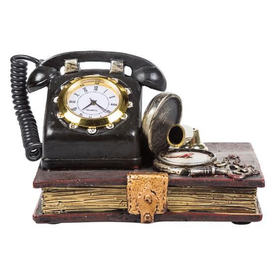 ANTIQUE TELEPHONE MASA SAATİ 12X10X8CM
