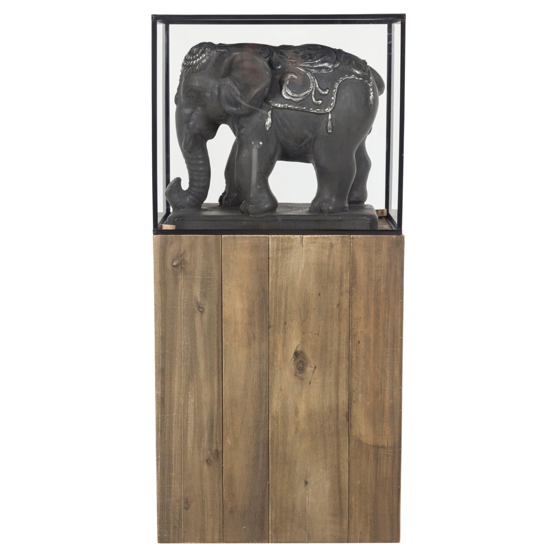 TERRA ELEPHANT BİBLO SET/2 SILVER 51X109 CM