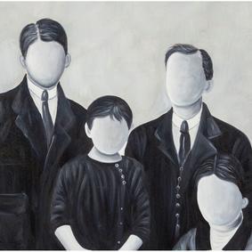 FAMILY PORTRAIT YAĞLI BOYA TABLO 90X120CM