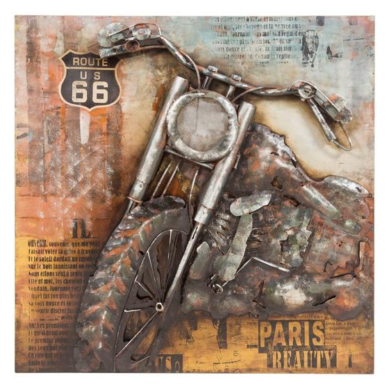MOTORCYCLE FRONTAL PANO 100X100 CM