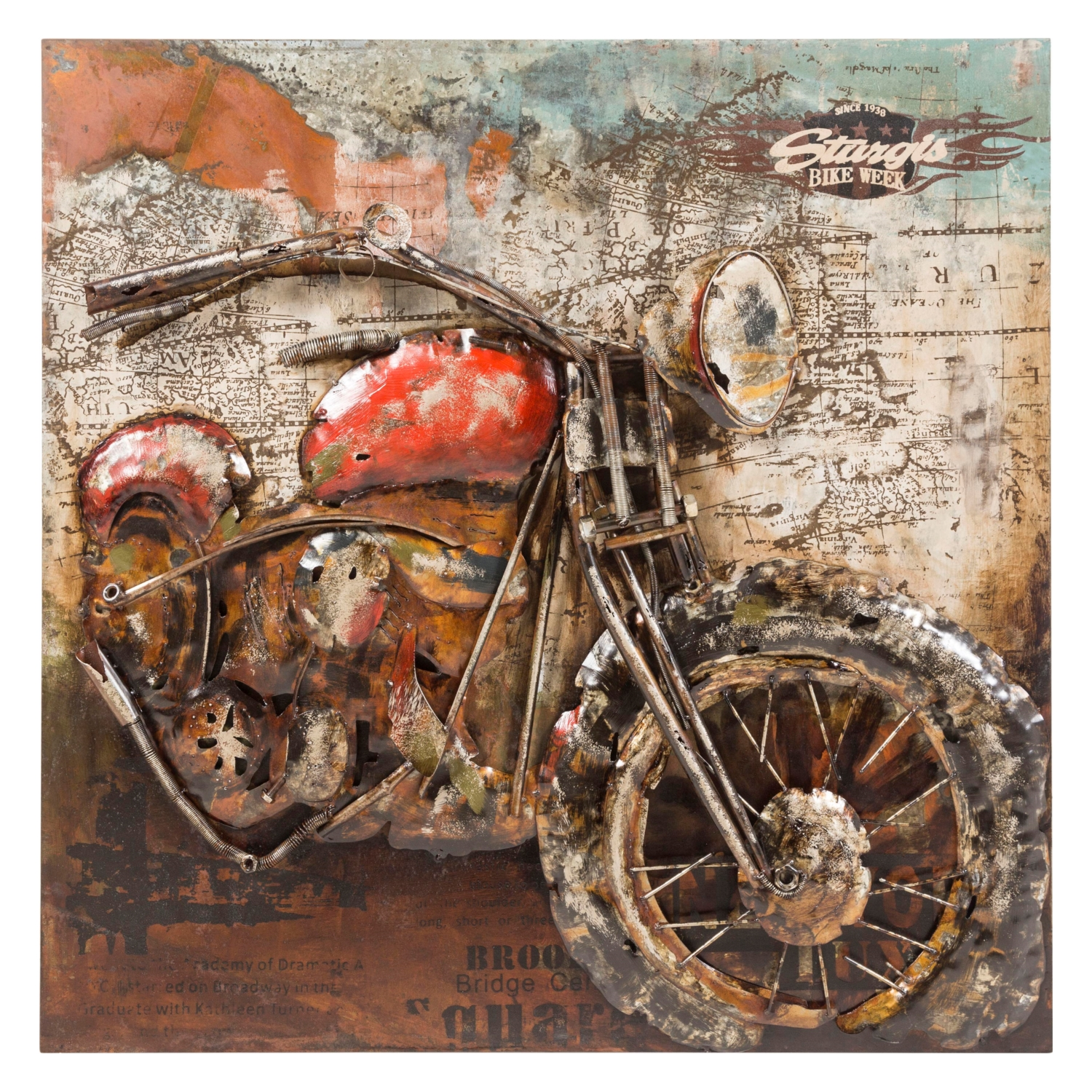 MOTORCYCLE SIDE PANO 100X100 CM