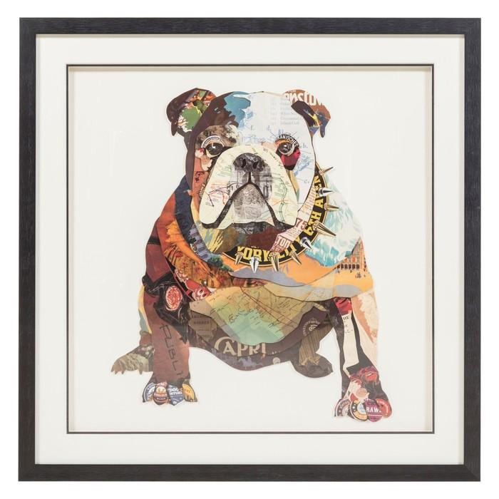 DOG PANO 75X75 CM
