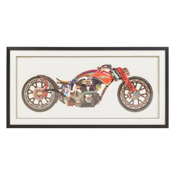 MOTORYCLE IN RED PANO 130X65 CM
