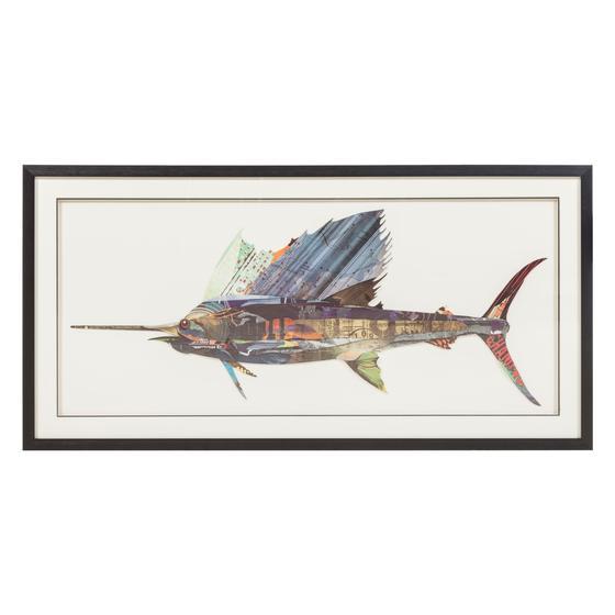 FISH PANO 130X65 CM