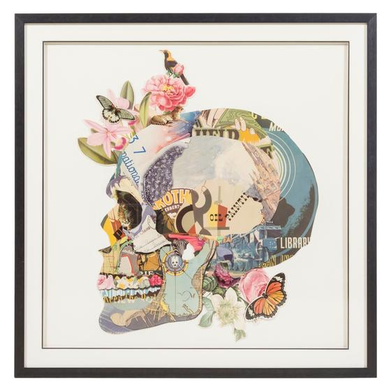 SIDE FACE OF A SKULL PANO 100X100 CM
