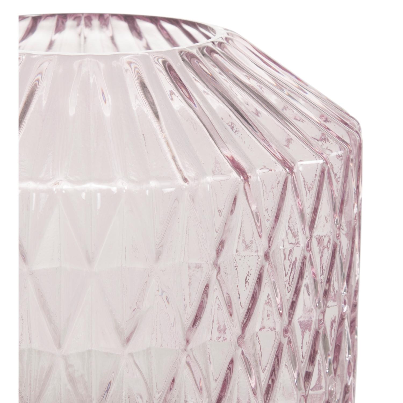 DIAMOND VAZO - PEMBE 16x9x18 CM