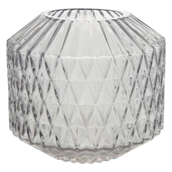 DIAMOND VAZO - FÜME 16x9x18 CM