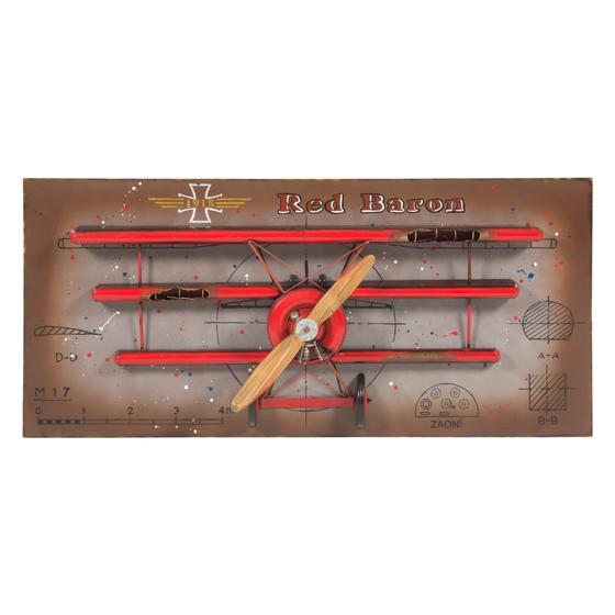 RED PLANE PANO 150 CM