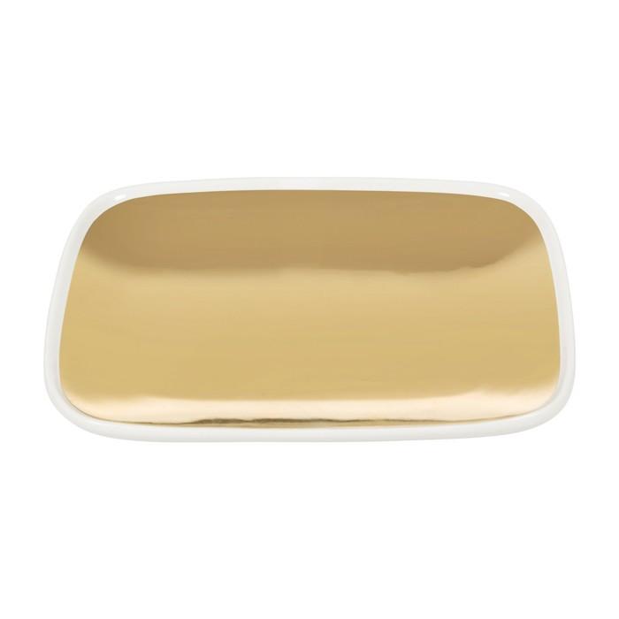 GOLD DİKDÖRTGEN SERVİS 19.5 x 16 x 2cm