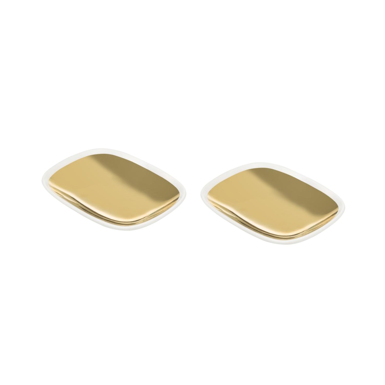 GOLD OVAL TABAK 2 Lİ  12.5 x 9 x 2cm