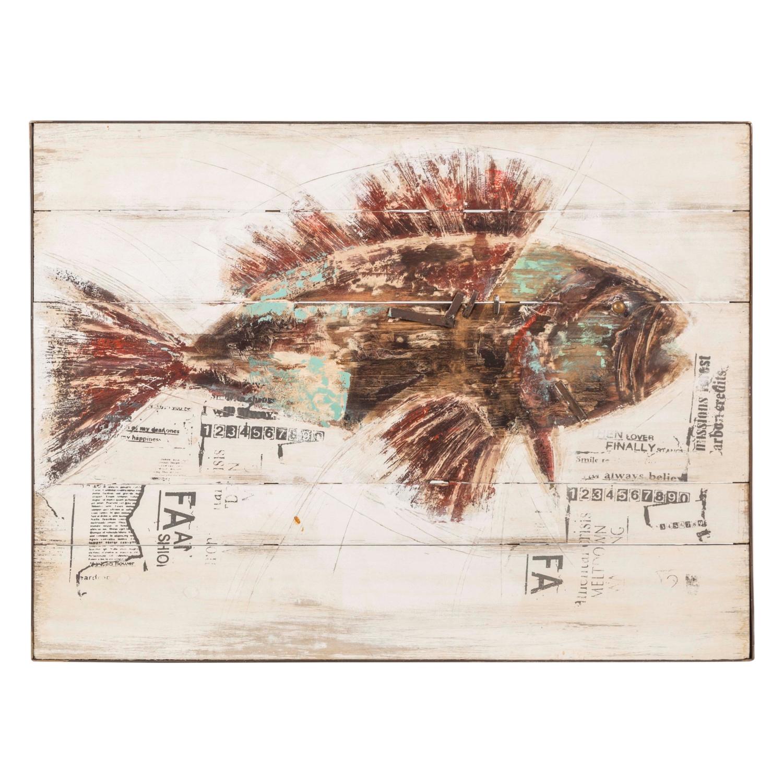 BROWN FISH AHŞAP PANO 90X120CM