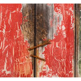 OLD RED DOOR AHŞAP PANO 120X150CM