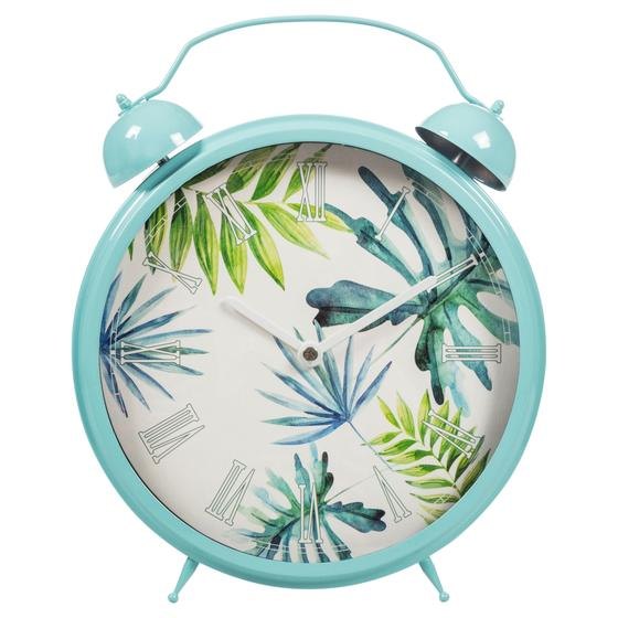 TROPICAL LEAF MASA SAATİ 25CM MAVİ
