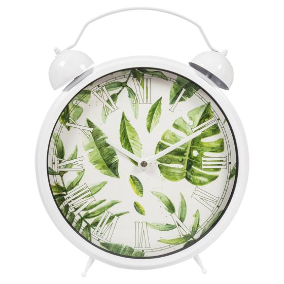 TROPICAL LEAF MASA SAATİ 25CM BEYAZ