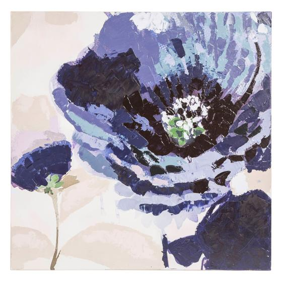 BLUE FLOWERS YAĞLIBOYA TABLO 80X80CM