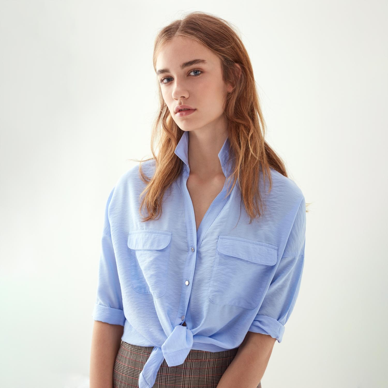 Mudo 3/4 Kol Cep Detaylı Regular Gömlek