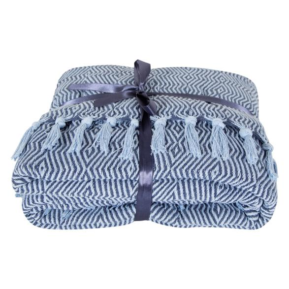 SAMARA THROW INDIGO 200x230