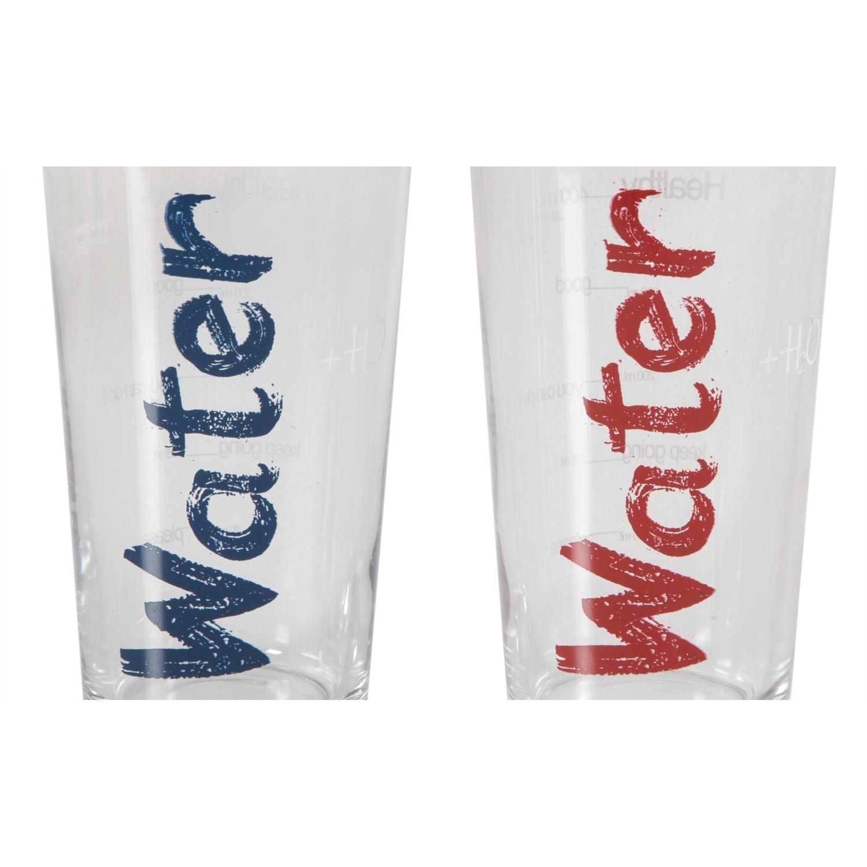 WATER BARDAK 570 ML 2'Lİ SET -MAVİ&KIRMIZI