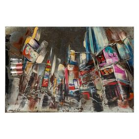 CITY METAL PANO 80X120 CM