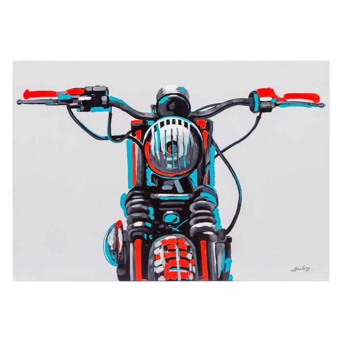 SURFACE OF MOTOCYCLYE YAĞLI BOYA TABLO 70X100 CM