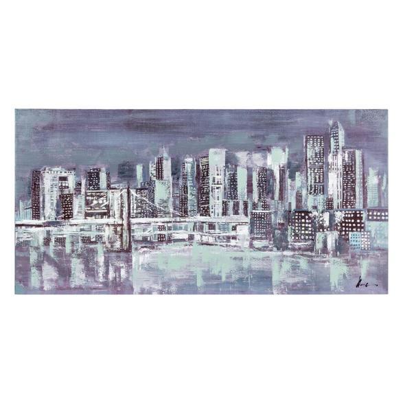 DARKNESS IN CITY YAĞLI BOYA TABLO 70X140 CM