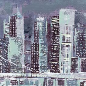 DARKNESS IN CITY YAĞLI BOYA TABLO 70X140 CM