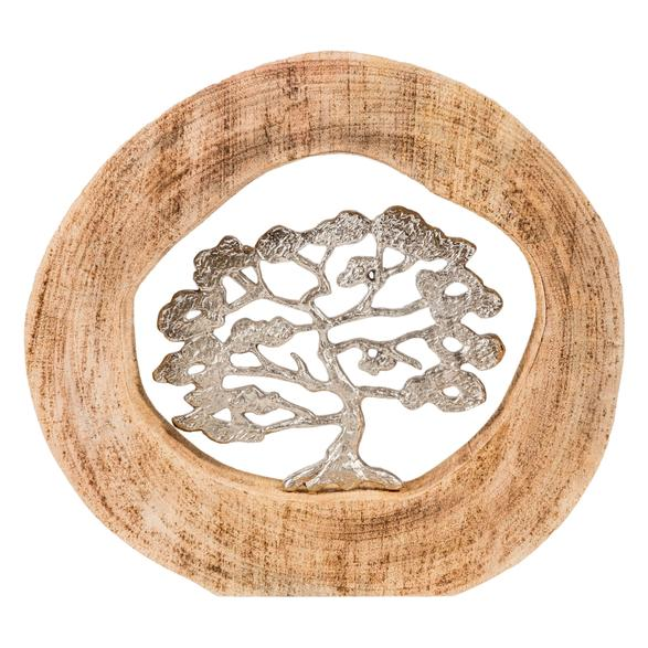 TREE IN LOG BİBLO 34X6X33CM