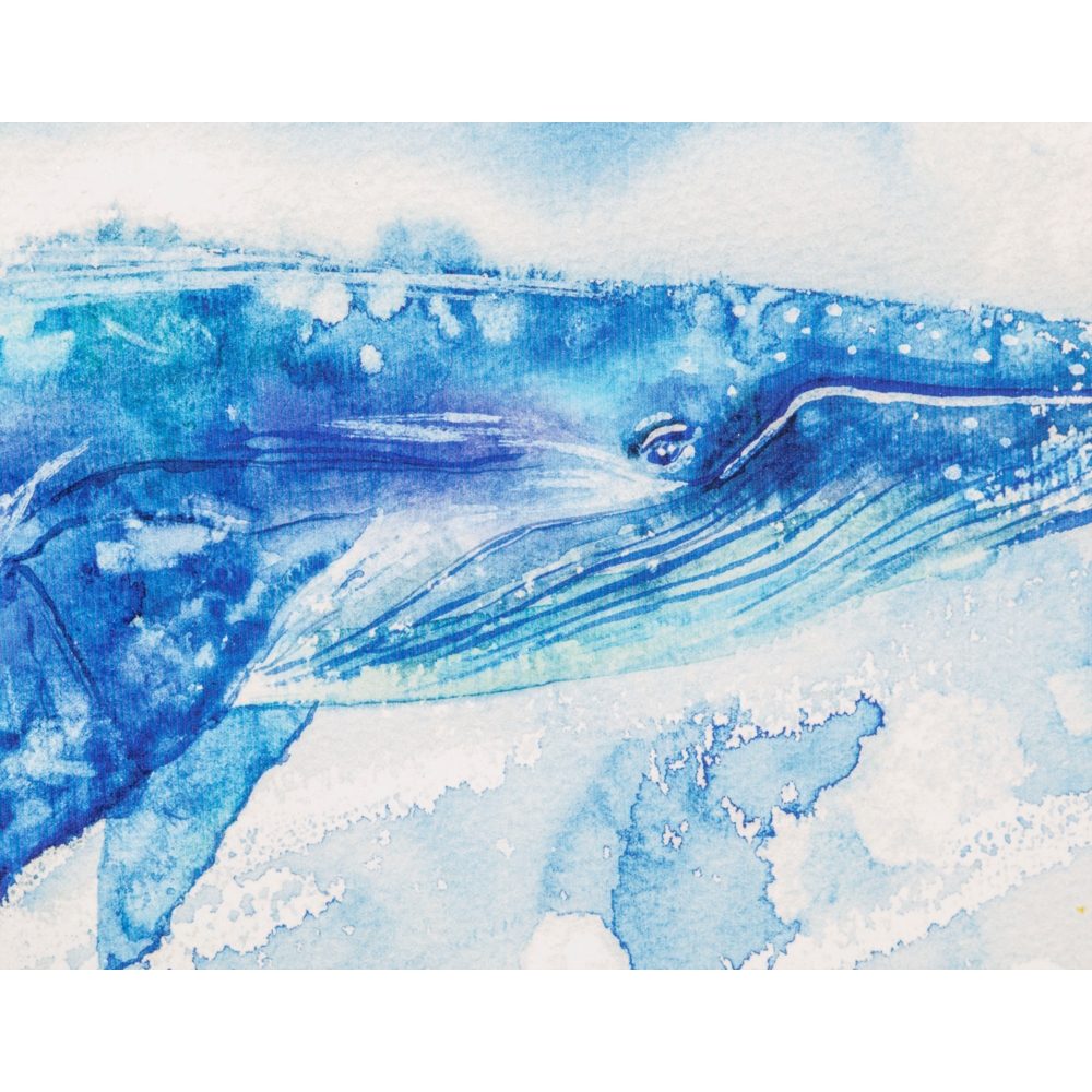 BLUE WHALE TABLO 60X90 CM