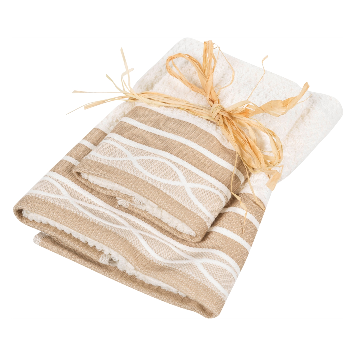 TOWEL SET BEIGE