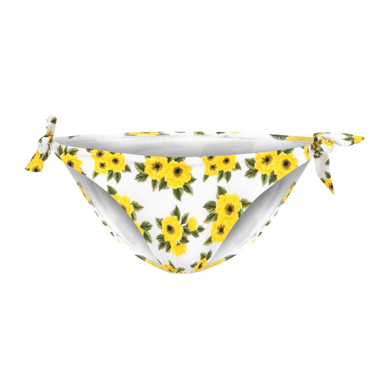 Çiçek Desenli Bağlamalı Bikini Altı