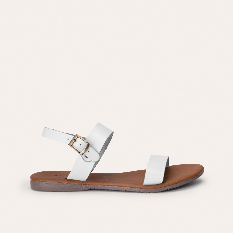 Deri Görünümlü Sandalet