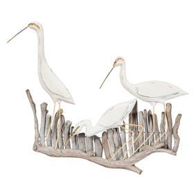 BIRDS ON TWIG PANO 66X8X54CM